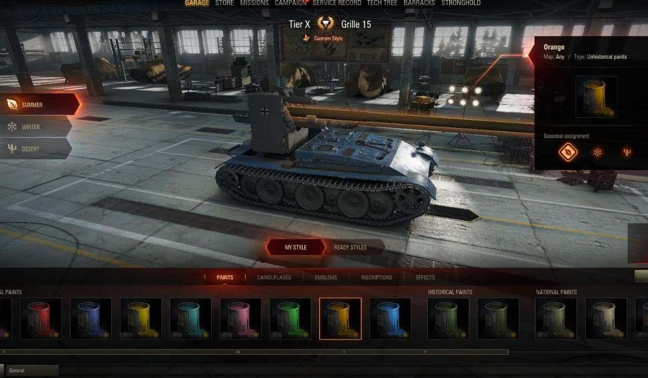 World of Tanks Farbe