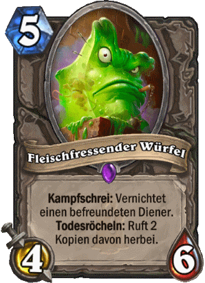 Hearthstone Hexenmeister Guide - Fleischfressender Würfel