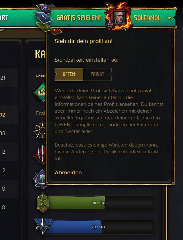 GWENT Private Setting