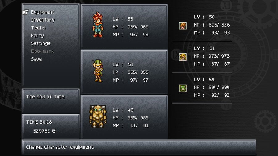 Chrono Trigger UI