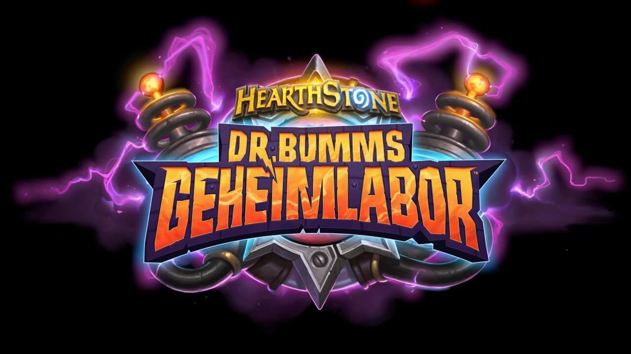 Hearthstone Dr. Logotipo del laboratorio secreto de Bumm