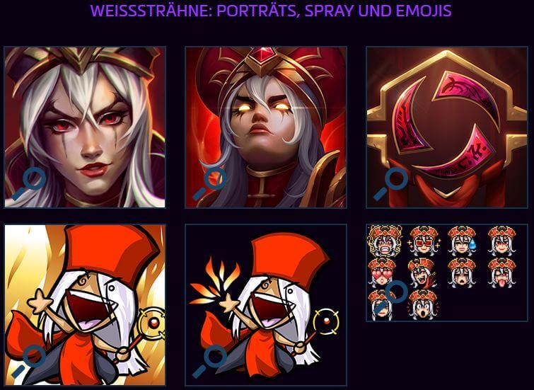 Heroes of the Storm - Potraits, Emojis, Sprays von Weißsträhne