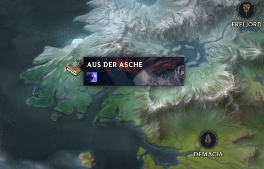 League of Legends Teil der Runeterra Worldmap