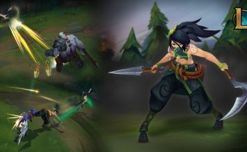 League of Legends Bild der neuen Akali in Action