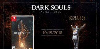 Dark Souls Remastered Titelbild mit Solaire Amiibo