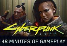 Cyberpunk 2077 Titelbind mit 2 Söldnern