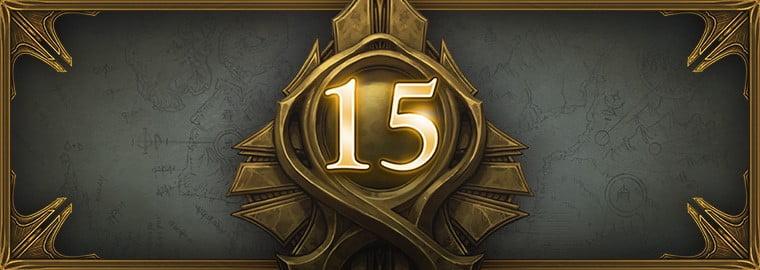 Diablo 3 Logo mit einer 15 für die neue Saison