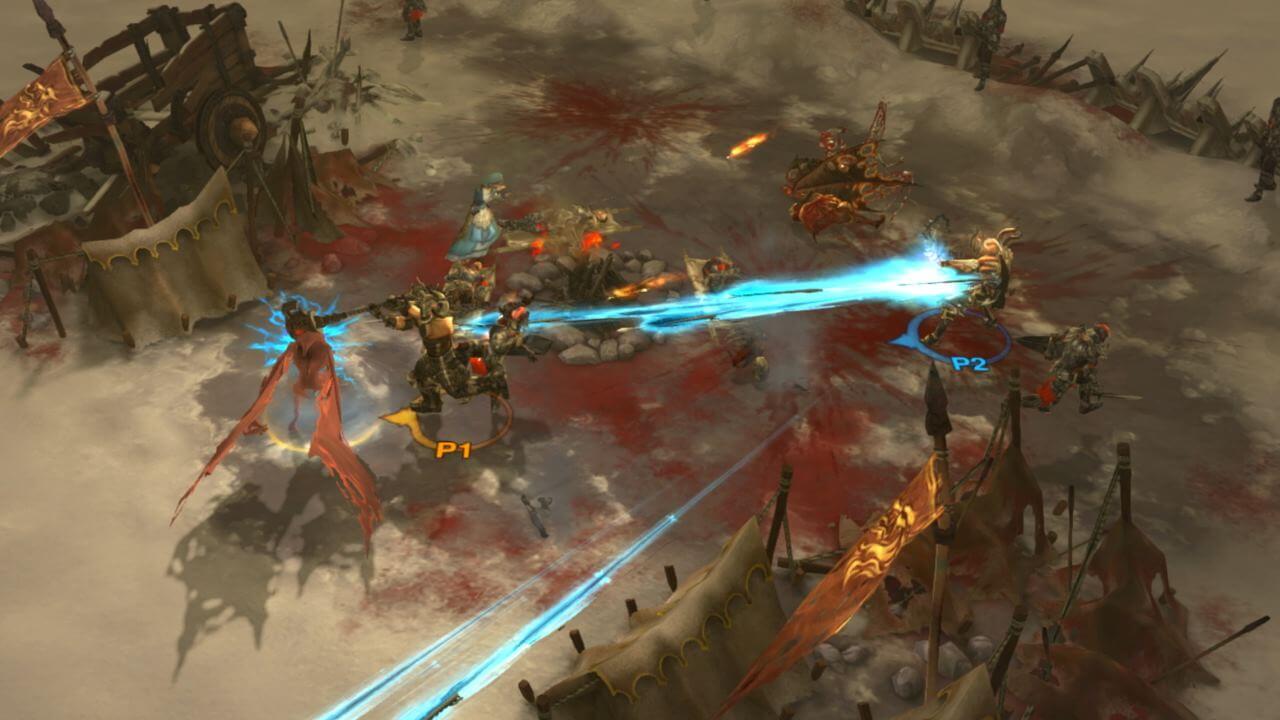 Escena del juego Diablo 3 en consola