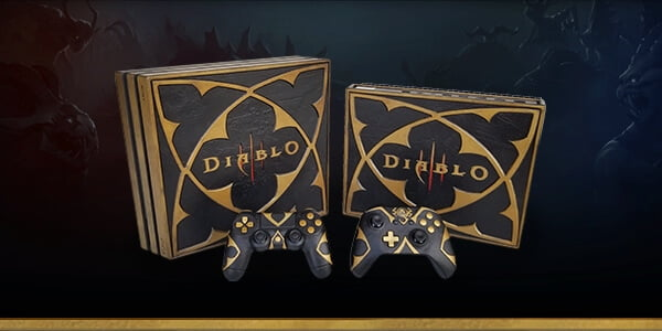 Diablo 3 Zwei Konsolen und Controller mit Diablo 3 Aufdrucken