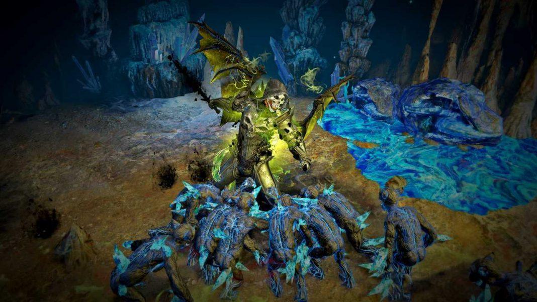 Path of Exile Held im Kampf mit Monstern