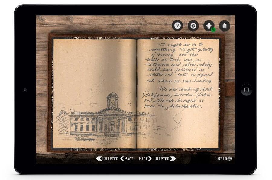 Red Dead Redemption 2 Journal Eintrag von Arthur Morgan auf der App