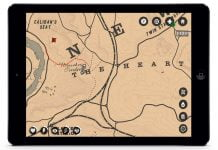 Red Dead Redemption 2 Karte des Spiels auf der Companion App